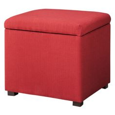 $60  foot of the bed?  Threshold™ Single Square Storage Ottoman  - Red