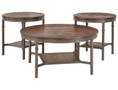 Slumberland | Sandling Collection - Dark Brown Set of 3 Tables