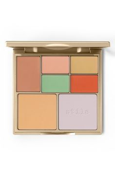 Totally obsessed with this all-in-one color correcting palette from Stila! The lightweight, sheer-to-medium, buildable creams and translucent finishing powders neutralize imperfections and brighten dull skin tones. Nourishing vitamins A, C and E along with a vitamin complex work together to help diminish the appearance of pores and fine lines while moisturizing and controlling oil. The correctors are waterproof, too.