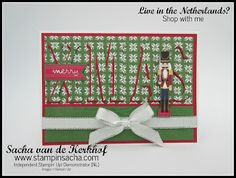 Stampin' Sacha | Stampin' Up! | Annual Catalogue 2017-2018 | Large Letters Framelits | Autumn/Winter Catalogue 2017 | Christmas Quilt | Quilted Christmas DSP | Christmas Around The World DSP | Silver Metallic-Edge Ribbon | Christmas Card | Raised Letter Technique
