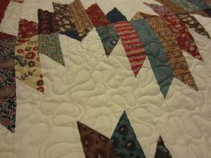 Meandering with a Twist - Leaves and Swirls - Free Style Quilting