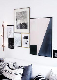 Neutral gallery wall