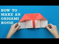 A great origami project for beginners! Emily, age shares how to make an origami house with this step by step video tutorial. :-) Join our weekly-ish news. Easy Origami For Kids, Useful Origami, Origami Easy, Diy For Kids, Origami Furniture, Paper Child, Weaving For Kids, Shapes Worksheets, Mini Craft