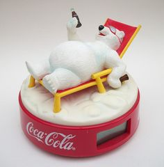 Collectable Coca Cola Polar Bear Alarm Clock 6.5""