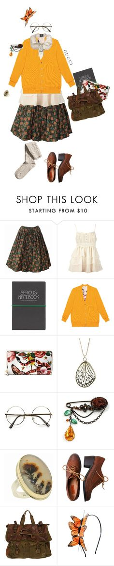 """""""Gucci Garden Exclusive"""" by ladybolet ❤ liked on Polyvore featuring Dorothy Perkins, Wild & Wolf, Gucci, Avalaya, Jamie Joseph, Miz Mooz, Belstaff, Rock 'N Rose, H&M and gucci"""