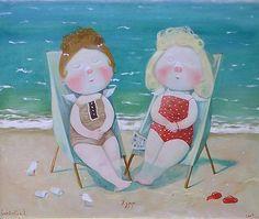 On the beach)))