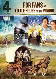 This set of four family-friendly films includes PRAIRIE FEVER, SEVEN ALONE, LEGEND OF THE RUBY SILVER, and YOUNG PIONEERS. Color: Silver.