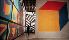 Sol LeWitt retrospective at the Whitney in 2000.