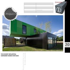 Interested in green shipping container architecture? Here are the best shipping container homes from around the world for inspiration. Container Architecture, Blog Architecture, Container Buildings, Green Architecture, Cheap Shipping Containers, Shipping Container Home Designs, Container House Plans, Container House Design, Prefab Homes