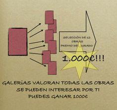 Primera fase de la convocatoria, selección de galerías y premio de 1000€