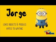 What are the names of despicable me minions characters exactly? People are always wondering. Most of them are despicable me 2 characters. Let's know minions names. Minions Funny Images, Minions Quotes, Funny Minion, Despicable Me 2 Minions, Minion Movie, Epic Texts, Funny Texts, Funny Jokes, Minion Names