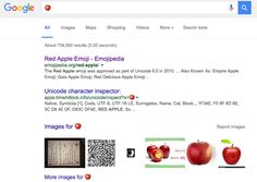 google-apple-emoji-desktop, Try it by searching for [] or [] or other characters, and Google will no longer show you that there are no results; instead, Google will show you results for the emoji character. Here are some screen shots: