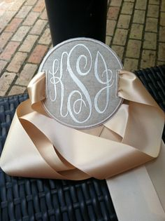 Monogrammed Pillow Charms
