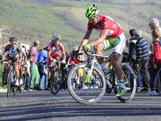 TIRRENO-ADRIATICO STAGE FIVE  Peter Sagan toils with the gradient as riders were forced to zig-zag their way up the climb