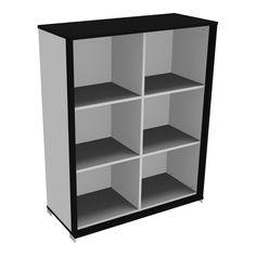 Åben Reol med 6 rum - fra Holmris - http://www.holmrisonline.dk/reoler-og-opbevaring/aaben-reol #reol #opbevaring #kontormøbler