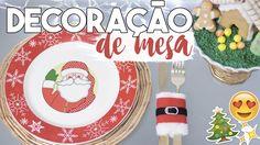 DIY Especial Natal 🎅 Decoração de Mesa 🎅 Faça Seu Natal DIY 🎄 #NataldaAlê04