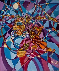 """Huile sur toile intitulée """"Mascarême"""" de l'artiste peintre Gabriel Landry.  www.gabriellandry.com Gabriel, Artist Profile, Canadian Artists, Artists Like, Oil On Canvas, Spiderman, Contemporary Art, Creations, Sculpture"""