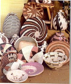Some of the world's finest quality baskets are produced in southern Africa. University of Pretoria Library University, Afro Style, Library Services, Pretoria, African Art, Basket Weaving, Fiber Art, Skulls, South Africa
