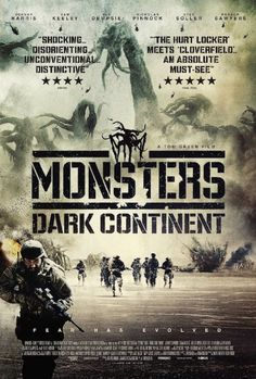 MONSTERS: DARK CONTINENT  Sequel to Gareth Edwards' 2010 low budget sci-fi drama.  Click the poster for our review