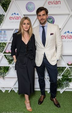 Best dressed couple: Olivia Palermo and her husbandJohannes Huebl upped their style game for a fun day out at the Wimbledon Tennis Championships in south London on June 30, 2016
