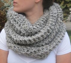 Crochet Infinity Scarf Extra Long WoolEase Yarn by DLCAccessories, $40.00