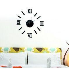 Moderné nalepovacie hodiny rímske čísla čierne .