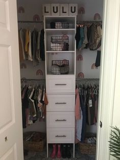 I've always had a distaste for the builder grade shelves in my youngest daughters closet so we set out on a 300$ budget to try to make it more aesthetically inviting and also more functional! We love the way this new closet turned out! The before As you can see it's just a poor use of space. I'm not a big fan of these wired racks I just don't think that they were functional as they could've been for the space, so the first thing my husband did was to remove these from the closet an…