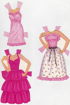 From the Crystal Barbie Paper Doll set