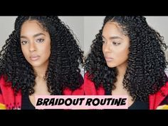 """So I had to """"blow out"""" my hair so that I could get a trim because I do nit like to get trims with my hair curly. Lime Crime Velvetines Swatches, Blowout Hair, Braid Out, Mane Attraction, Grunge Hair, Curled Hairstyles, Protective Styles, Eyebrows, Curls"""