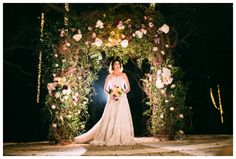 By far one of the most gorgeous arch shots we have Antique garden blush ivory maroon  Whim Florals | Camp Lucy Styled Shoot : Under the Stars | Al Gawlik Photography