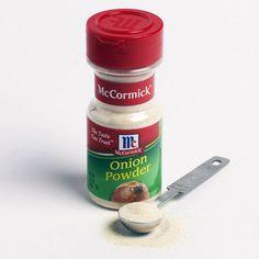 1 Tablespoon of Onion Powder = 1 Medium Chopped Onion