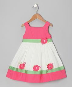 Ivory Flower Dress - Toddler & Girls