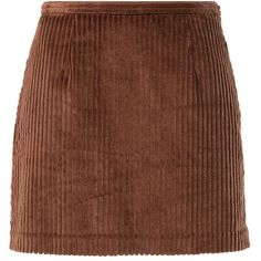 Chloë Sevigny for Opening Ceremony WIDE WHALE Mini skirt (590 DKK) ❤ liked on Polyvore featuring skirts, mini skirts, bottoms, faldas, brown, wide skirt, brown skirt, patterned mini skirt, mini skirt and zipper skirt