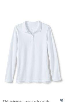 Girls Uniforms, Blouse, Long Sleeve, Sleeves, Tops, Women, Fashion, Moda, Women's