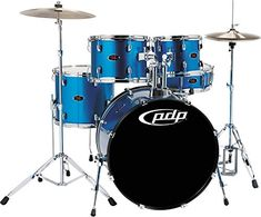 PDP Z5 5Piece Drum Set Aqua Blue -- More info could be found at the image url.(It is Amazon affiliate link) #followme