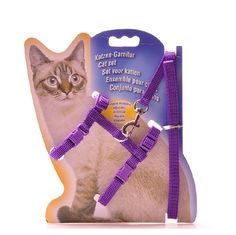 cat Cat Adjustable Nylon Harness Lead Leash *** If you love this, read review now : Cat Collar, Harness and Leash