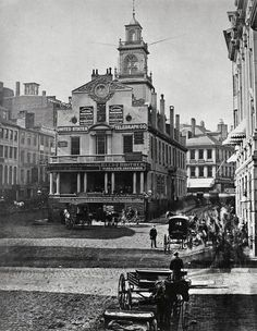 Old State House circa 1860. Site of the Boston Massacre in 1770