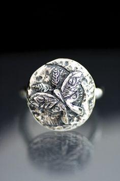 Luna Moth Ring