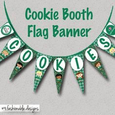 Bling Your Booth with this free, printable cookie booth flag banner