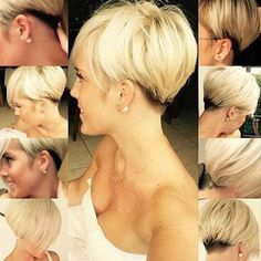 Blonde pixie hairstyle