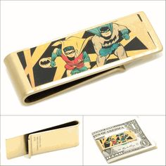 Holy money bags Batman! This Vintage Batman and Robin Money Clip is a must-have for your utility belt!