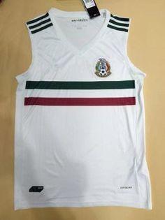 Mexico National Team 2017-18 Season Away White Sleeveless Jersey Mexico  National Team 2017-18 Season Away White Sleeveless Jersey  95908e047