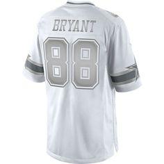 6d179d80b Dallas Cowboys Dez Bryant  88 Nike Platinum Jersey