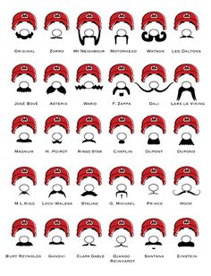 There's only one Mario mustache. ProofChart.