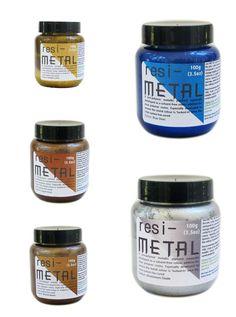 Liquid metallic pigments for resin