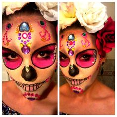 Day Of The Dead Skull Catrina Melissa Castro| Makeup https://www.facebook.com/melissacastromakeup sfx makeup