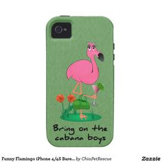 Funny Flamingo iPhone 4/4S Barely There Case iPhone 4 Case-Mate Case