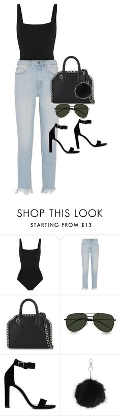 """""""Sem título #1421"""" by oh-its-anna ❤ liked on Polyvore featuring Eres, M.i.h Jeans, STELLA McCARTNEY, Yves Saint Laurent and Topshop"""