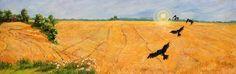 GeddaRunyon Starlin, Crows in the Wheat Field on ArtStack #geddarunyon-starlin #art