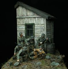 """Prey"" a cool German WWII toy soldier diorama by Johan Fohlin. Military Diorama, Military Art, Anglo Saxon History, Military Action Figures, Model Hobbies, Military Modelling, Model Trains, Toy Trains, Toy Soldiers"